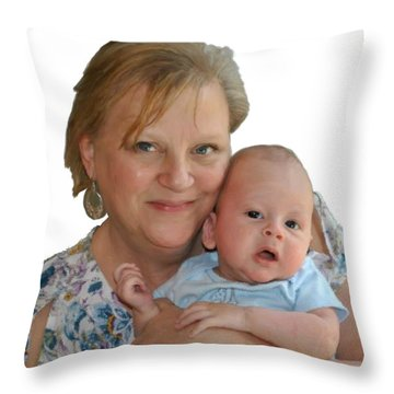 Trudy And Zachary Throw Pillow by Bruce Nutting