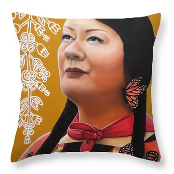 True Beauty - Jenny Blackbird Throw Pillow