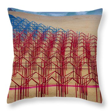 True Color Throw Pillow by Edgar Laureano
