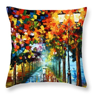True Colors Throw Pillow by Leonid Afremov