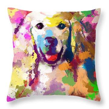 True Friend Throw Pillow by Anthony Mwangi