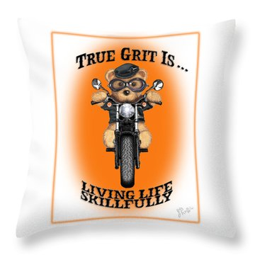 True Grit Throw Pillow by Jerry Ruffin