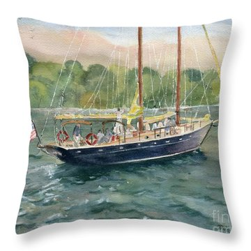 True Love Schooner Throw Pillow
