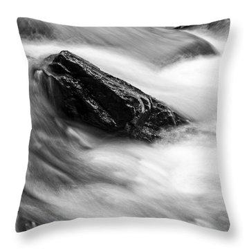 True's Brook Gorge Water Fall Throw Pillow by Edward Fielding