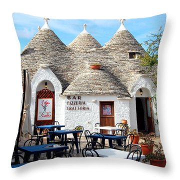 Trulli Outdoor Trattoria Throw Pillow