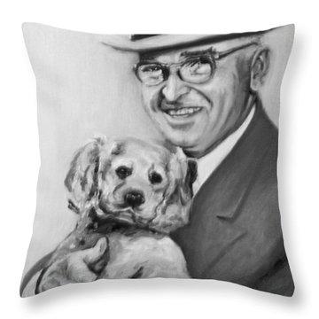 Truman And Feller Throw Pillow