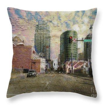 Throw Pillow featuring the photograph Truman Road Kansas City Missouri by Liane Wright