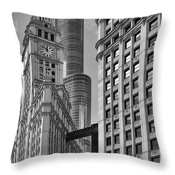 Trump And Wrigley In Harmony Throw Pillow by Christine Till
