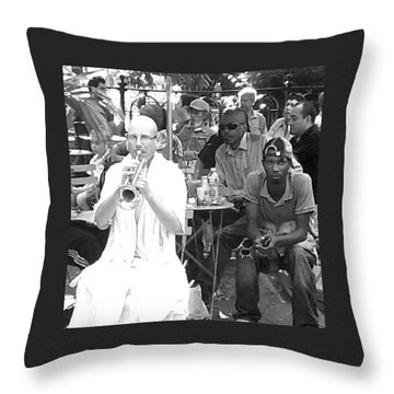 Trumpeteer Throw Pillow by Christopher M Moll