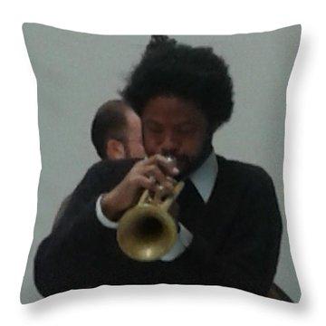 Trumpet Solo Throw Pillow