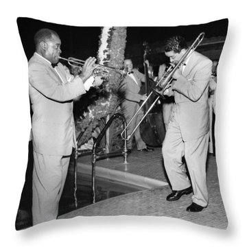 Trumpeter Louis Armstrong Throw Pillow