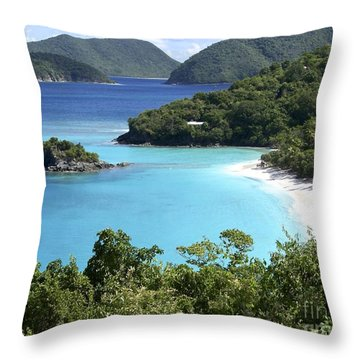 Throw Pillow featuring the photograph Trunk Bay II by Carol  Bradley