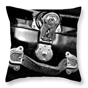 Trunk Latch Throw Pillow by Adria Trail