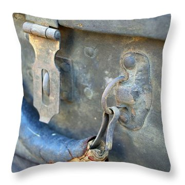 Trunk Picking Throw Pillow by Gwyn Newcombe