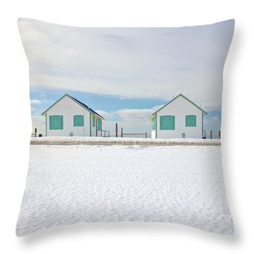 Throw Pillow featuring the photograph Truro Cottages by Amazing Jules