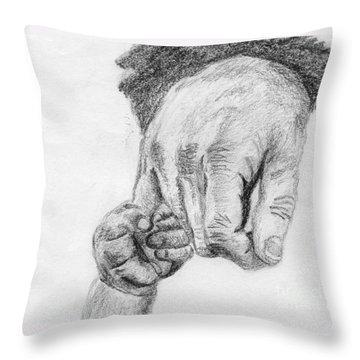Trust Throw Pillow by Annemeet Hasidi- van der Leij