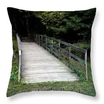 Trust God In The Dark Throw Pillow by Sara  Raber
