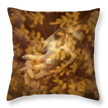 Trust Throw Pillow by Kurt Van Wagner