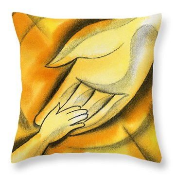 Trust Throw Pillow by Leon Zernitsky