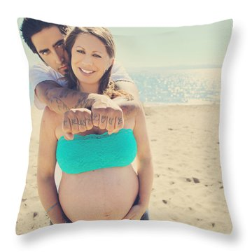 Trust Love Throw Pillow by Laurie Search