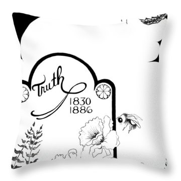 Throw Pillow featuring the digital art Truth Time by Carol Jacobs