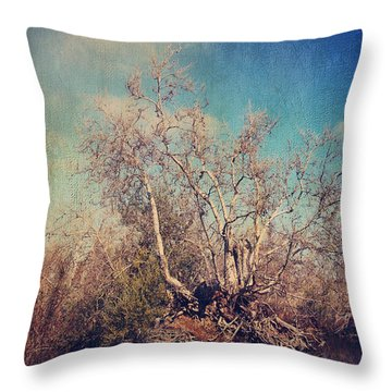 Trying To Survive Throw Pillow by Laurie Search