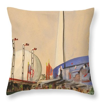 Trylon And Perisphere Worlds Fair 1939 Throw Pillow