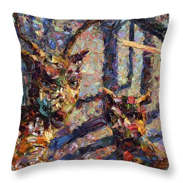 Tryst Throw Pillow by James W Johnson
