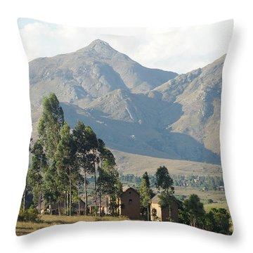 Tsaranoro Mountains Madagascar 1 Throw Pillow by Rudi Prott