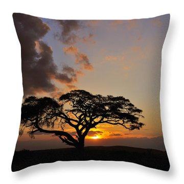 Tsavo Sunset Throw Pillow