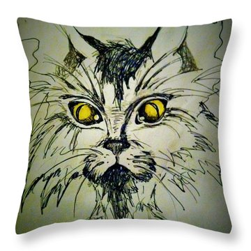Tsimos Cat Throw Pillow