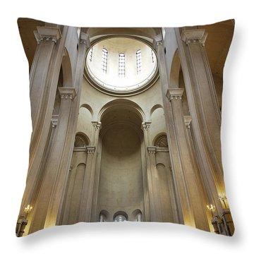 Tsminda Sameba Cathedral Interior Tbilisi Georgia Throw Pillow by Robert Preston
