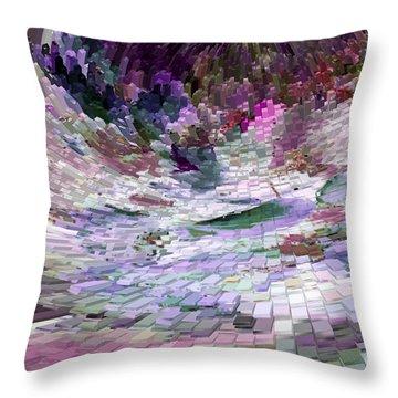 Throw Pillow featuring the digital art Tsunami by Liz  Alderdice