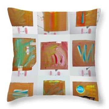 Tsunami Quilt Throw Pillow by Charles Stuart