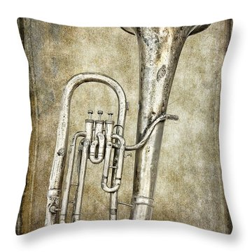 Tubacular Throw Pillow by Daniel Hagerman