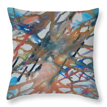 Throw Pillow featuring the painting Tube by Thomasina Durkay