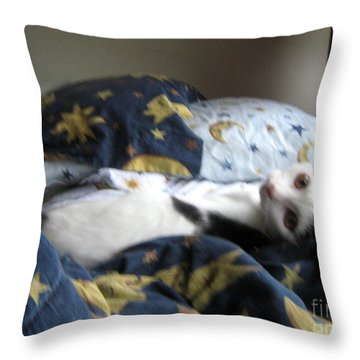 Tuck Me In Throw Pillow