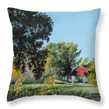 Tucked Away Throw Pillow