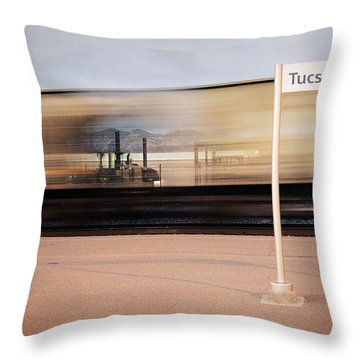 Passing Through Throw Pillow