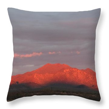 Throw Pillow featuring the photograph Tucson Mountains by David S Reynolds