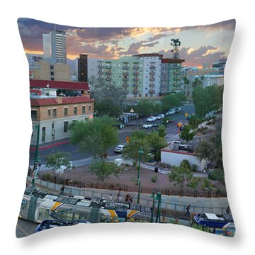 Tucson Streetcar Sunset Throw Pillow