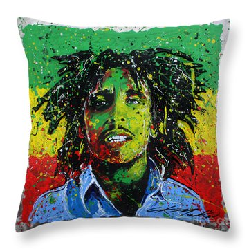 Tuff Gong Throw Pillow