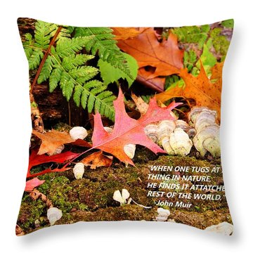 Tug At Nature Throw Pillow