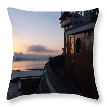 Tug Throw Pillow by Mark Alan Perry