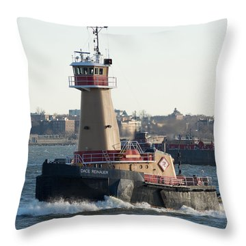 Tugboat Dace Reinauer Throw Pillow