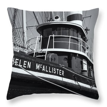 Tugboat Helen Mcallister II Throw Pillow by Clarence Holmes