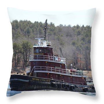 Tugboat Mcallister On Cape Cod Canal Throw Pillow