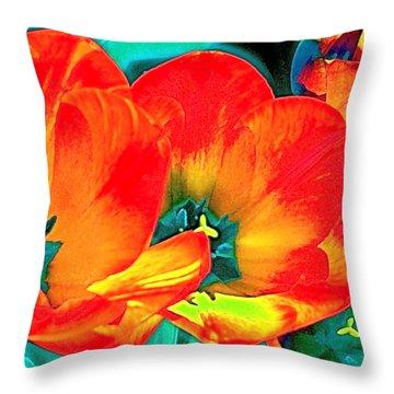 Tulip 1 Throw Pillow by Pamela Cooper