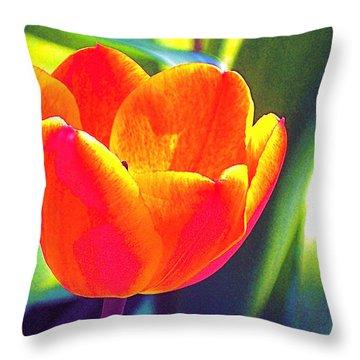 Tulip 2 Throw Pillow by Pamela Cooper