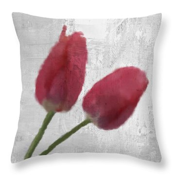 Tulip Throw Pillow by Aged Pixel